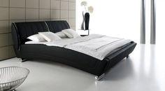Günstiges Kunstlederbett mit gebogenem Bettrahmen.   Betten.de http://www.betten.de/Betten/Polsterbetten/auckland-lederbett-180x200cm-guenstig.html