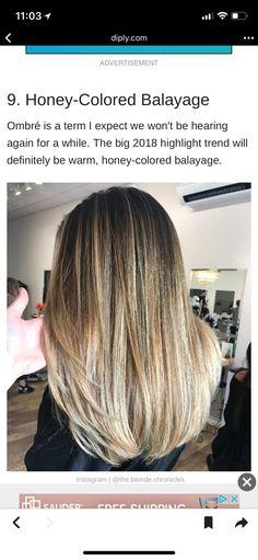 Honey colored bayalage