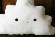 Cute Happy Cloud Pillow Cushion Plushie Felt Toy by peenanator