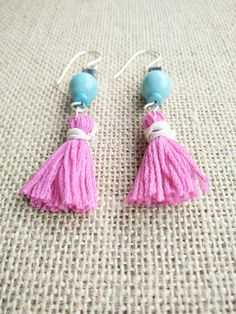 Check out this item in my Etsy shop https://www.etsy.com/uk/listing/457921408/pink-tassel-earring-tassel-earring