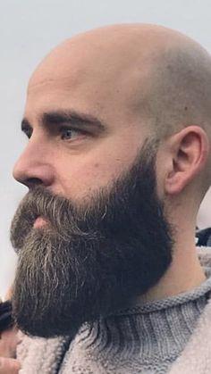 Old Bald Man, Bald Men With Beards, Bald With Beard, Grey Beards, Barber Man, Barber Shop, Well Groomed Beard, Hair And Beard Styles, Hair Styles