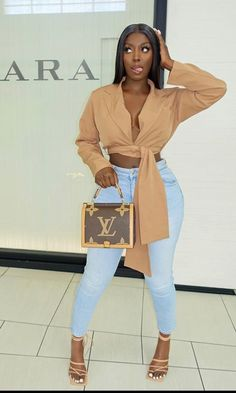 Outfit uploaded by Mrs. Arabian on We Heart It Dope Outfits, Cute Casual Outfits, Stylish Outfits, Girl Outfits, Fashion Outfits, Female Outfits, Black Women Fashion, Look Fashion, Hipster Fashion