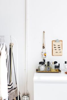 A creative couple make a sunny, bright and minimal home and workspace in a one-room East Bay California loft apartment. Le Closet, Ivory Soap, Rental Space, Cleaning Out Closet, Minimal Home, East Bay, Weekend Projects, Apartment Therapy, Wardrobe Rack