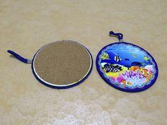 "6 7"" Art Print Table Mats Set of 4 Ceramic Drink Coasters Home Decor Submarine | eBay"