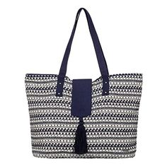 Roxy Indian Sky Shoulder Tote Bag Wave Jacquard Combo Sand Piper One Size *** Click image to review more details.