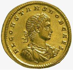 Constans,  son of Constantine the Great (Caesar 333-337, Augustus 337-350 AD)