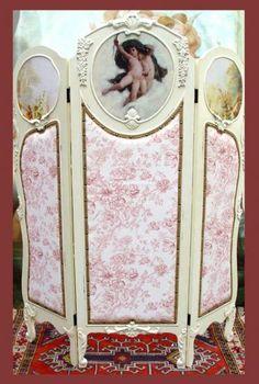 Details zu Vintage Raumteiler Spanische Wand Shabby Chic Trennwand Umkleide Paravent Antik
