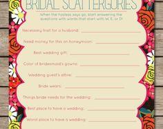 Fiesta Floral Bridal Quiz Bridal Shower & Wedding by HTBHandmade