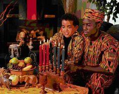 Kwanzaa - The lighting of the kinara.