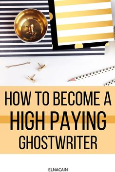 Become a ghostwriter and get high paying jobs as an online writer and freelancer as a ghostwriter Work From Home Jobs, Make Money From Home, How To Make Money, How To Become, Business Checks, Business Tips, Online Business, Online Writing Jobs, Freelance Writing Jobs