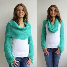 Nuevo regalo de temporada menta verde abrigo Bolero por denizgunes