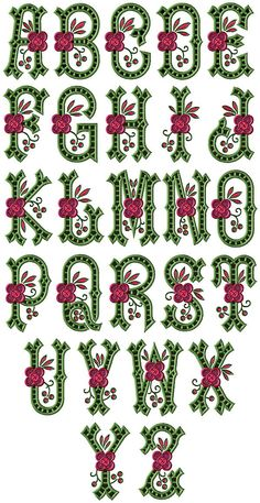 embroidery alphabet fonts | Free Embroidery Designs Archive. High Quality Machine Embroidery ...