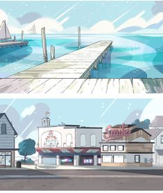 Hot topics, interesting posts and up to date news Scenery Background, Cartoon Background, Animation Background, Steven Universe Background, Casa Anime, Bg Design, Different Art Styles, Spa, Environment Concept Art