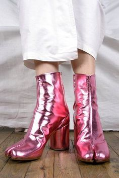 metallic boots thecoveteur