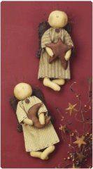 Primitive Angel Ornament Set