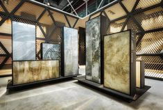 Royal Ceramica by Paolo Cesaretti | Architonic 3d Tiles, Booth Design, Stand Design, Design Furniture, Furniture Showroom, Tile Showroom, Showroom Design, Showroom Ideas, Exhibit Design