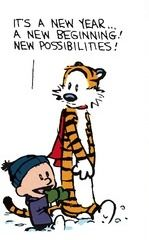 Calvin and Hobbes (DA) - It's a new year... a new beginning! New possibilities! (Happy 2016!)