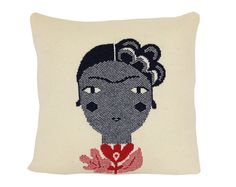 Frida soft knitted pillow includes insert by ColetteBream Leather Pillow, Knit Pillow, Girls Bedroom, Bedrooms, Cuddling, Decorative Pillows, Knit Crochet, Cushions, Throw Pillows