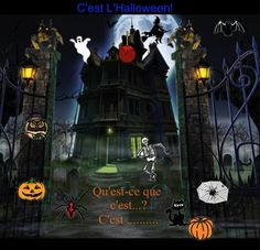Smartboard: 6 French Halloween Interactive Activities (includes sound) from… Halloween Vocabulary, Halloween Activities, Holiday Activities, Interactive Activities, Classroom Activities, Interactive Notebooks, Ontario Curriculum, French Songs, Core French