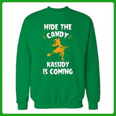 Hide The Candy Kassidy Is Coming Halloween Gift - Sweatshirt Irish_green 4XL - Holiday and seasonal shirts (*Amazon Partner-Link)