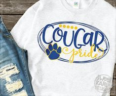 can be cut with the Silhouette Cameo, Cricut Explore, & other electronic cutting machines. High resolution JPG & PNG files are included. School Spirit Wear, School Spirit Shirts, School Shirts, Teacher Shirts, Teacher Wear, School Tshirt Designs, School Design, Cheer Pictures, Cheer Pics