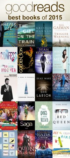 I love the beginning of a new year because it means all the best of lists from the previous year come out! Here's the Good Reads Best Books of 2015. So many great books to read!