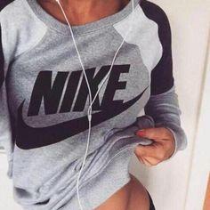 """ Nike "" Like Letter Logo Print Cotton Sports Long Sleeve Women Casual Sweatshirt Shirt Top Blouse T-Shirt _ 1867 from CL Fashion. Cl Fashion, New York Fashion, Fashion Trends, Fashion Shoes, Style Fashion, Fashion Deals, Classy Fashion, Runway Fashion, Fashion Women"