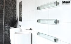Glass Rail, Heated towel rail.  www.dcshort.com