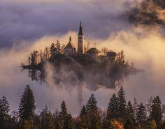 20 fotos que mostram como a natureza é a melhor criadora Lago Bled, na Eslovênia.