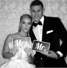 Mr. and Mrs. Manny Machado. Congratulations!