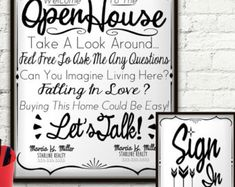 Open House Realtor Real Estate Personalized Sign & Sign In Sheet, Welcome Sign Personalized, Real Estate Agent, Real Estate Flyer, Custom - Open House Realtor Real Estate Personalized Sign by StarPrintShop - Real Estate Business, Real Estate Tips, Real Estate Marketing, Real Estate Flyers, Real Estate Career, Open House Signs, Sign In Sheet, Sell Your House Fast, Tips & Tricks