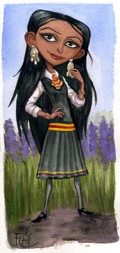 Parvati Watercolor Sketch by http://feliciacano.deviantart.com/art/Parvarti-Watercolor-Sketch-195670114