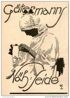 Original-Werbung/ Anzeige 1926 - GÜTERMANN NÄHSEIDE  - ca. 75 x 110 mm