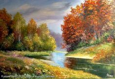 """Early Autumn"" - oil, canvas http://www.russianfineart.co/catalog/prod.php?productid=21156 Artist: Yanulevich Gennady"