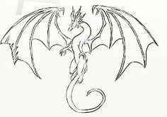 dragon easy drawings simple drawing sketches line sketch flying visit chinois