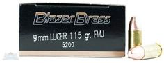 CCI Blazer Brass 9mm 115-Gr. FMJ 50 Rnds - $9.99