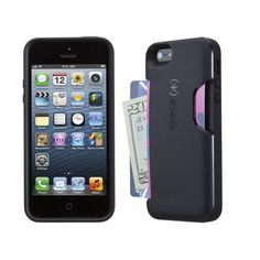 Carry up to 3 credit cards (plus cash) in this flexibly protective iPhone 5s and iPhone 5 wallet case.