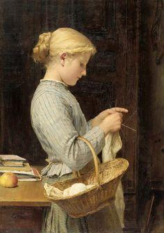 Albert Anker (Suiza, 1831-1910).