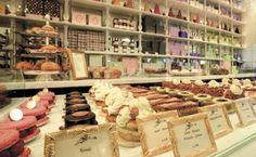 LaDuree Patisserie at Harrods, London - favourite restaurant Deli Cafe, Bakery London, London Logo, Pastel Macaroons, Bakery Logo Design, Cupcake Cookies, Cupcakes, Cafes, Muffin
