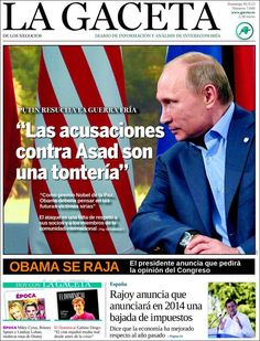 Los Titulares y Portadas de Noticias Destacadas Españolas del 1 de Septiembre de 2013 del Diario La Gaceta de los Negocios ¿Que le pareció esta Portada de este Diario Español?