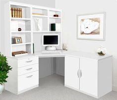 Home Office Furniture Uk, Home Office Decor, Study Room Decor, Bedroom Decor, Kid Desk, Desk Set, Furniture Layout, White Furniture, Home Office Design