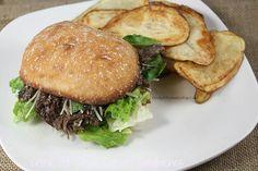 Crock Pot Steak Caesar Sandwiches
