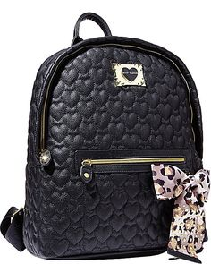 BE MY SWEETHEART BACKPACK BLACK accessories handbags day no sub class