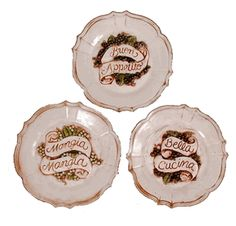 Italian wall plates kitchen decor - Tuscan Italian Kitchen Decor.  I came across these plates on the internet - a few years ago - and think they're beautiful. Would be a great addition to any kitchen or dinning room. Love and want them.