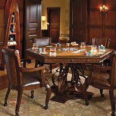 Poker table potterybarn casa de campo pinterest for Pottery barn poker table