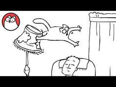 "Dumme Kat :-)  Den kat er da ikke nem at styre, se her hvordan ""Simons Cat"" ødelægger stuen imens Simon tager sig en lur. Tittel: ""Fly Guy"""