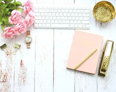Pink & Gold White Wo