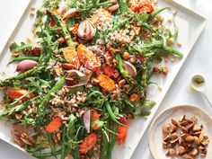 roasted summer vegetable plate with herb dressing (via Cooking Light)