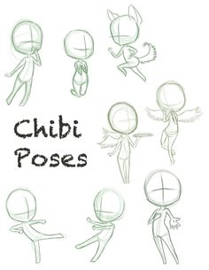 Chibi Pose Dump by ConcreteDreams on DeviantArt
