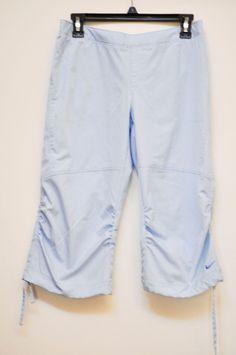 NIKE WOMEN NUDE  3/4 Athletism, Light Blue Pants RN56323 CA 05553 size M #Nike #PantsTightsLeggings